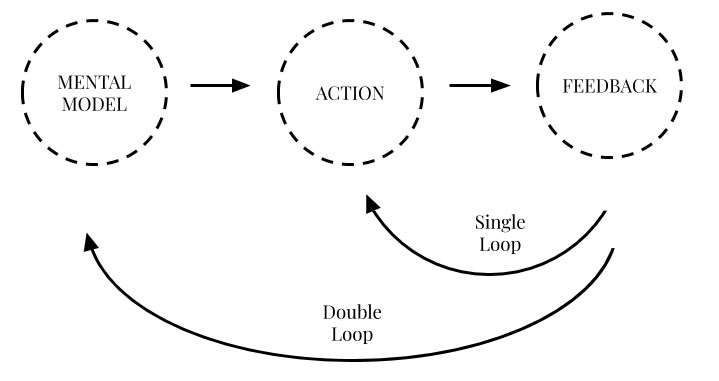 Single learning loop vs double learning loop