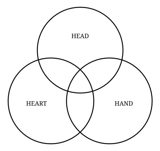 100 articles in 100 days - Head, Heart, Hand model of motivation
