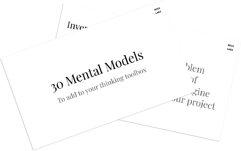 30 mental models to add to your thinking toolbox - PDF