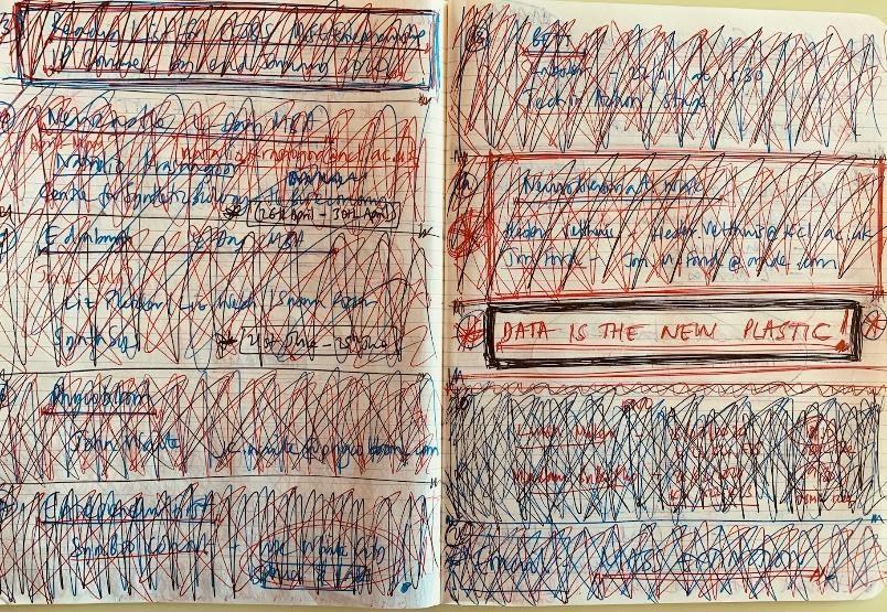 Dr John L. Collins notebook
