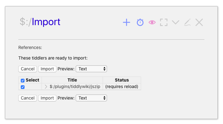 TiddlyWiki Export Plugin