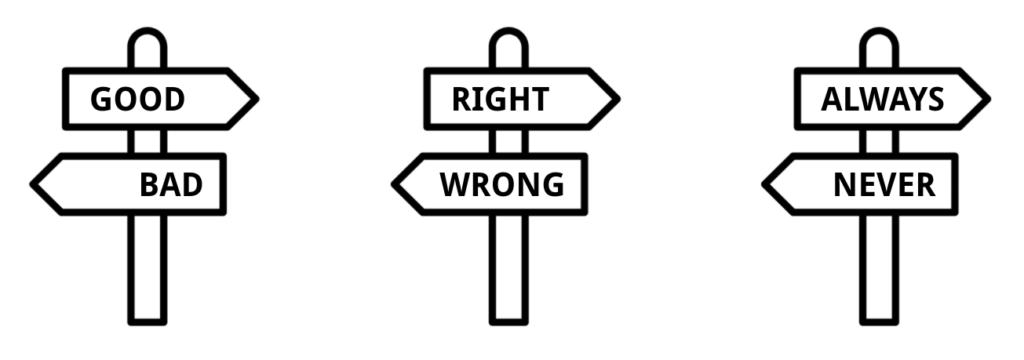 Nuanced thinking versus polarised thinking