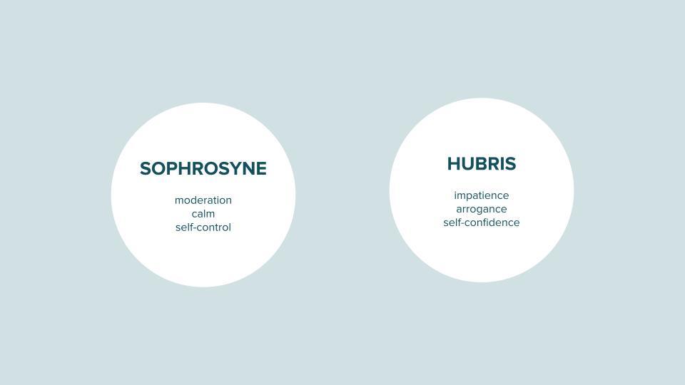 Sophrosyne versus Hubris