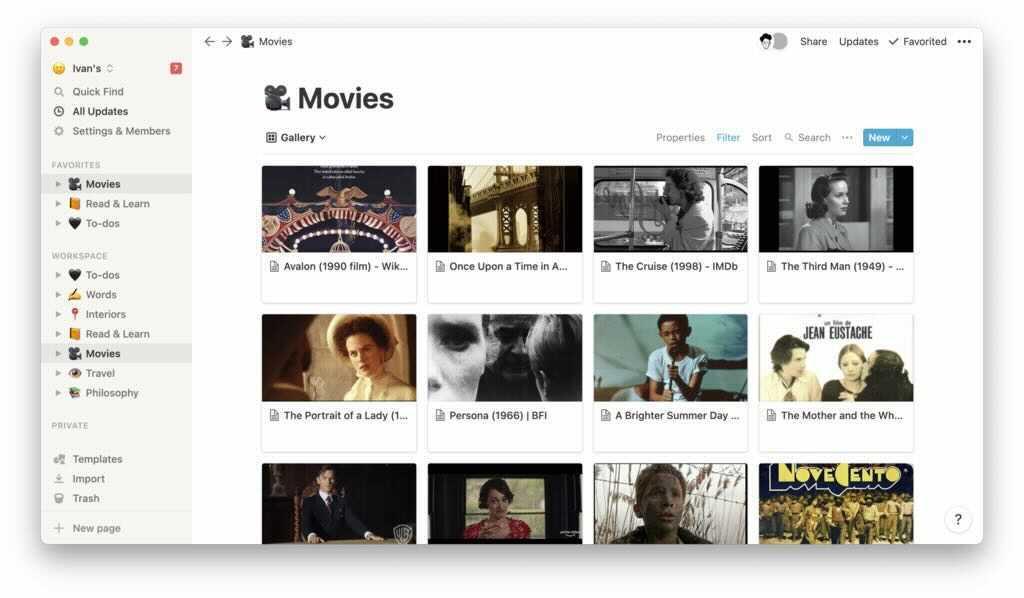 Notion Movies Screenshot