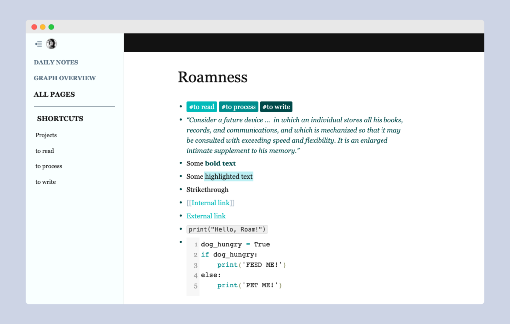 Styling tags in Roam Research with custom CSS