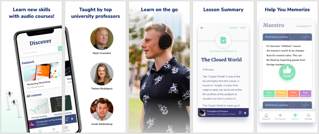 Alpe Audio - Learning new skills with audio courses
