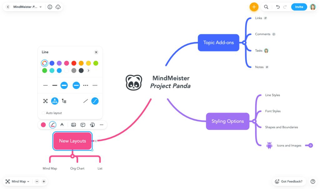 Project Panda by MindMeister